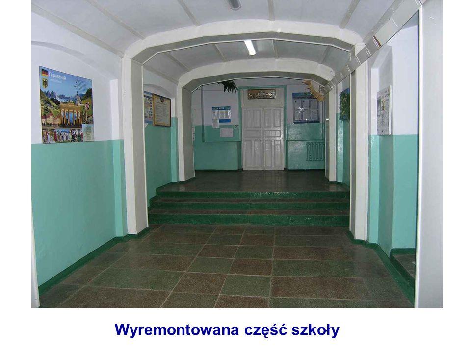 Wyremontowana część szkoły