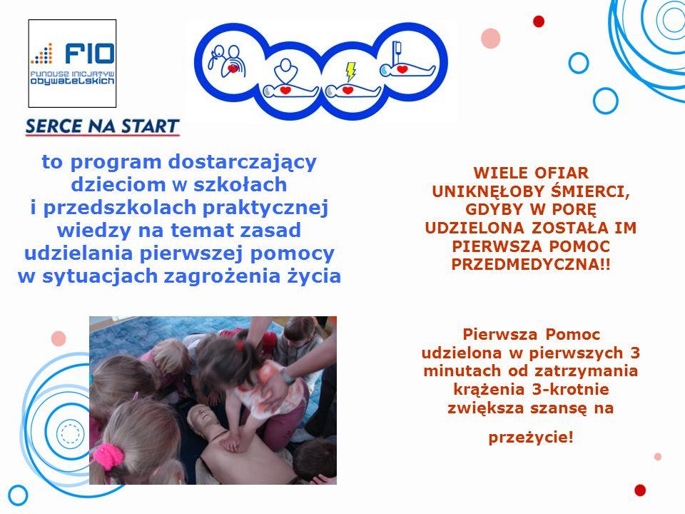 to program dostarczający dzieciom w szkołach i przedszkolach praktycznej wiedzy na temat zasad udzielania pierwszej pomocy w sytuacjach zagrożenia życia