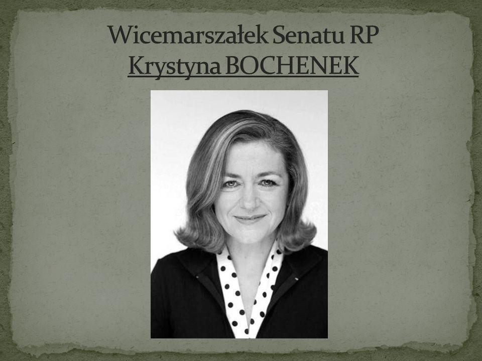 Wicemarszałek Senatu RP Krystyna BOCHENEK