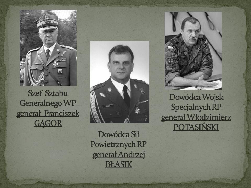 Szef Sztabu Generalnego WP generał Franciszek GĄGOR