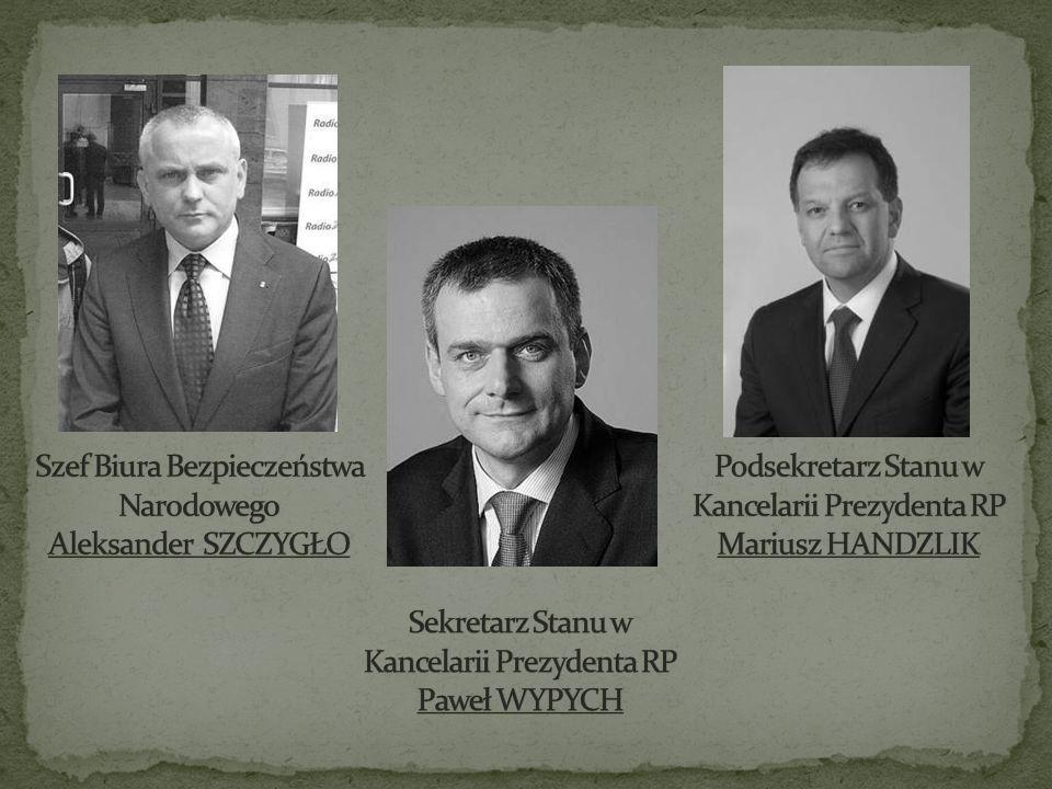 Szef Biura Bezpieczeństwa Narodowego Aleksander SZCZYGŁO