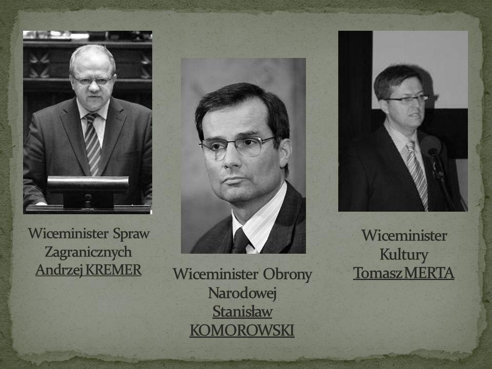Wiceminister Spraw Zagranicznych Andrzej KREMER