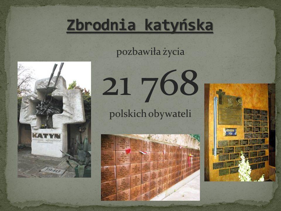 Zbrodnia katyńska pozbawiła życia 21 768 polskich obywateli