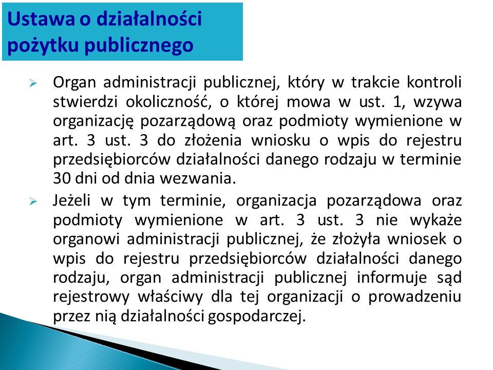 Ustawa o działalności pożytku publicznego