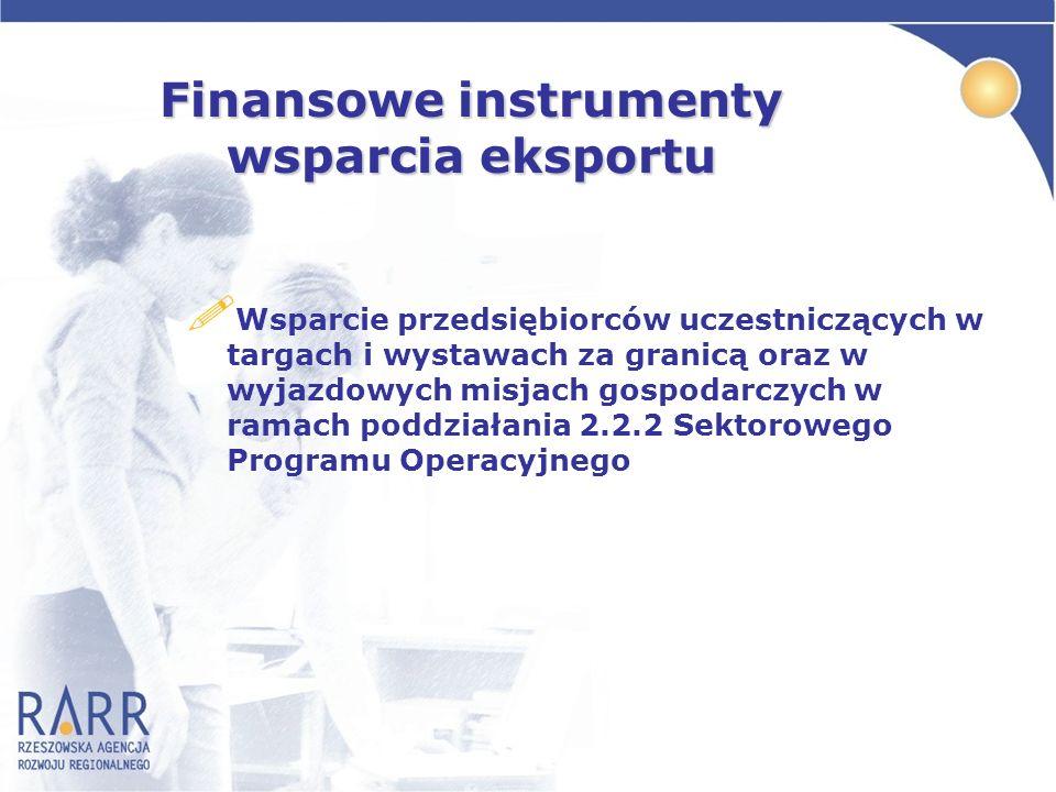 Finansowe instrumenty wsparcia eksportu