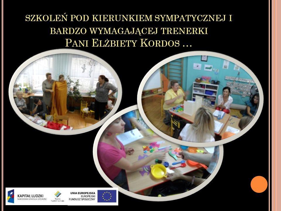 szkoleń pod kierunkiem sympatycznej i bardzo wymagającej trenerki Pani Elżbiety Kordos …