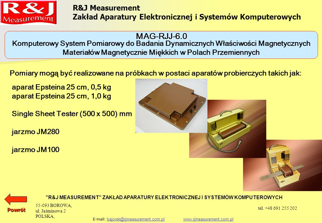 MAG-RJJ-6.0 R&J Measurement