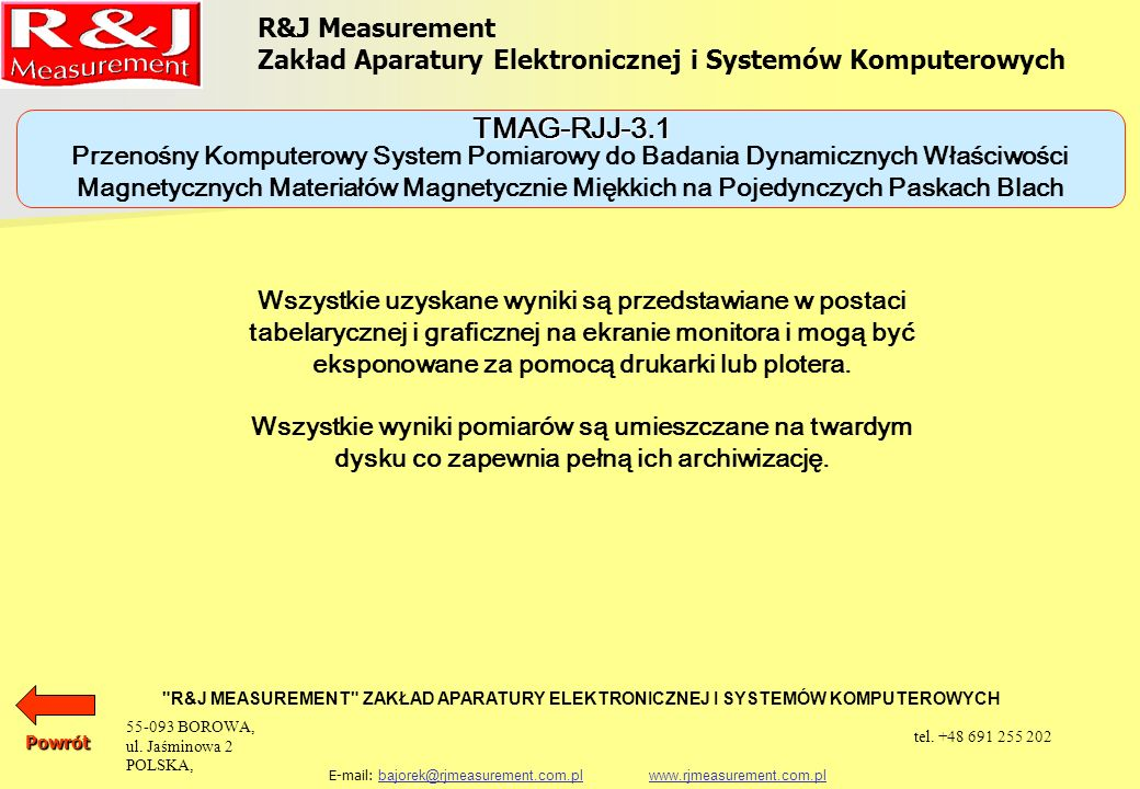TMAG-RJJ-3.1 R&J Measurement