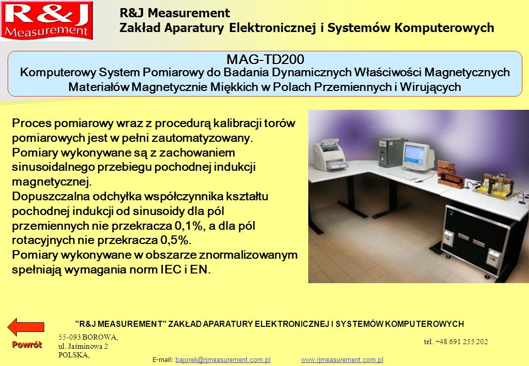 MAG-TD200 R&J Measurement