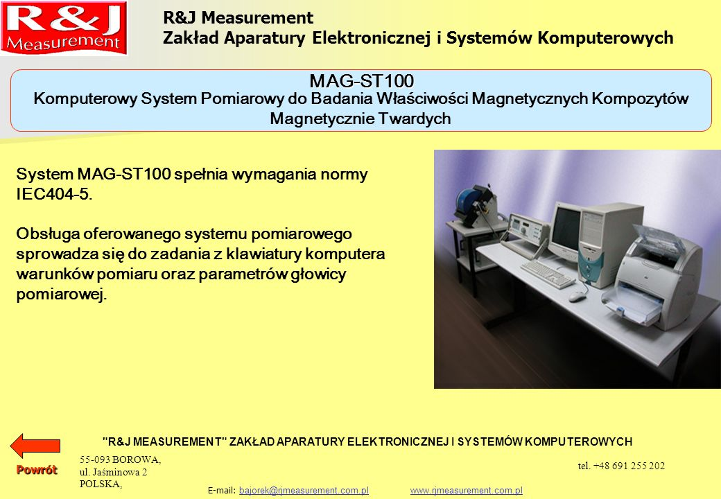 MAG-ST100 R&J Measurement
