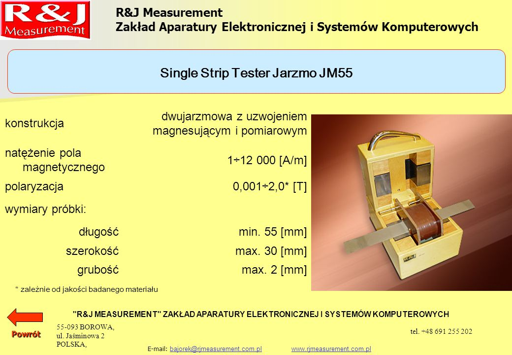 Single Strip Tester Jarzmo JM55