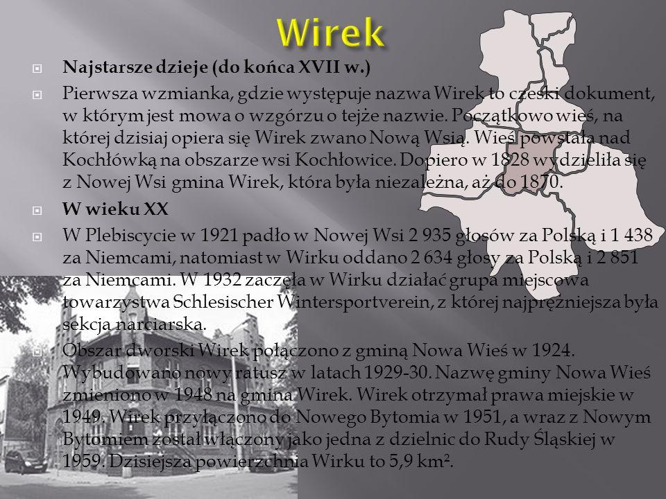 Wirek Najstarsze dzieje (do końca XVII w.)
