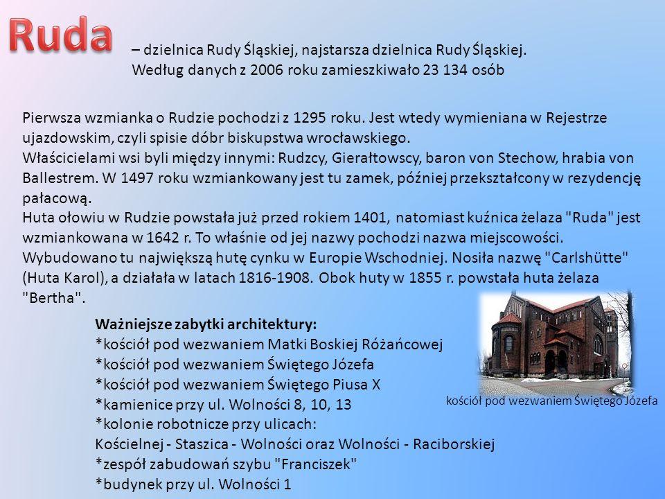 Ruda – dzielnica Rudy Śląskiej, najstarsza dzielnica Rudy Śląskiej. Według danych z 2006 roku zamieszkiwało 23 134 osób.