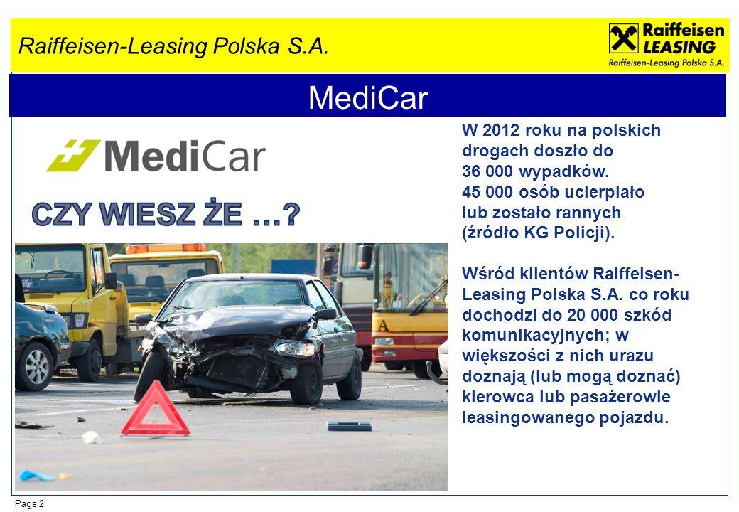 MediCar CZY WIESZ ŻE … W 2012 roku na polskich drogach doszło do