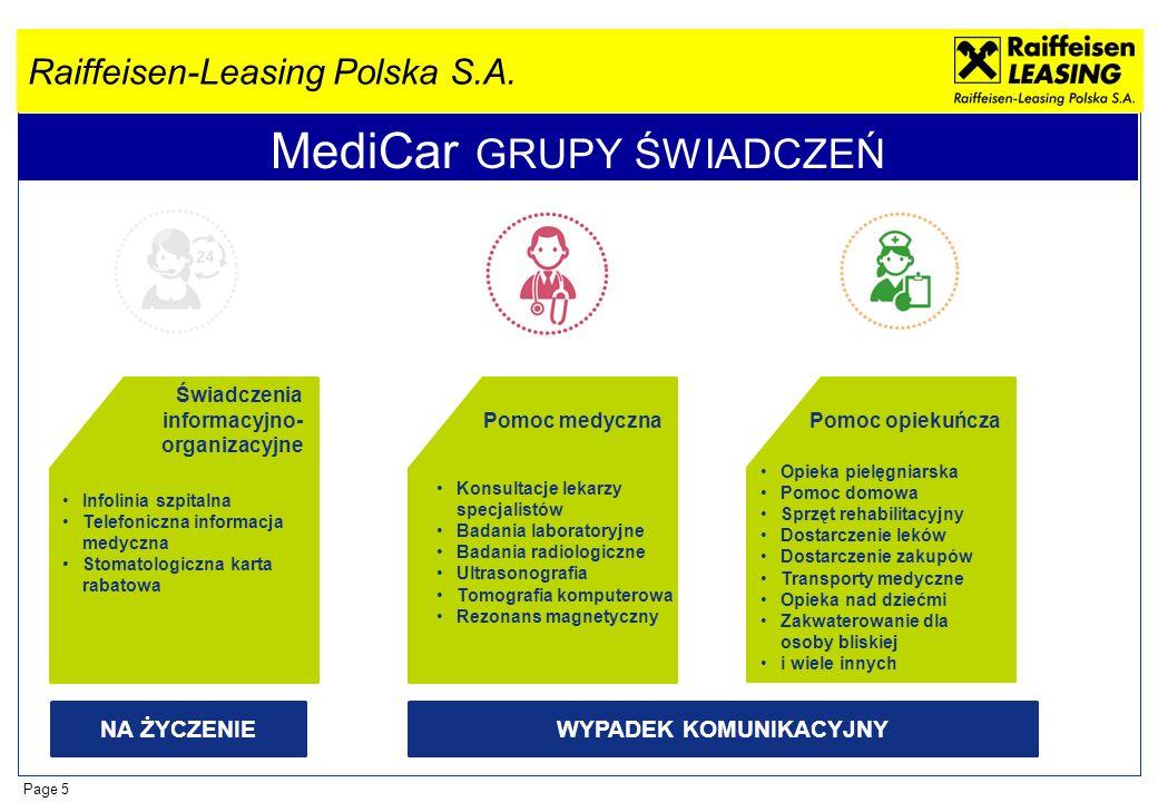 MediCar GRUPY ŚWIADCZEŃ