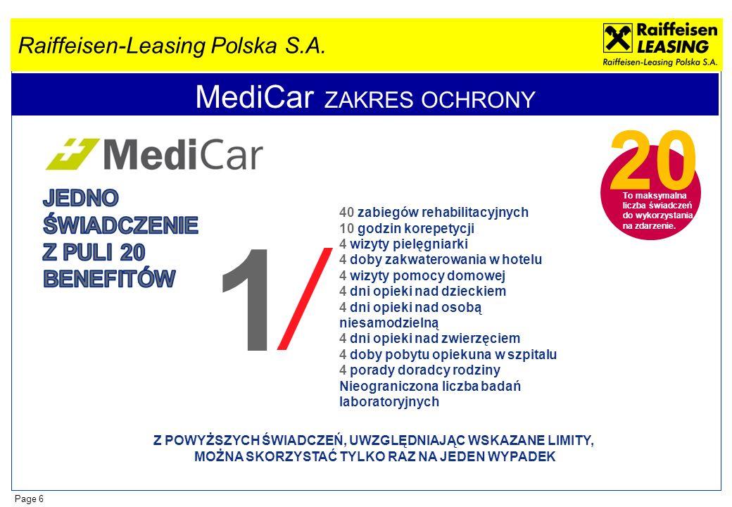 MediCar ZAKRES OCHRONY