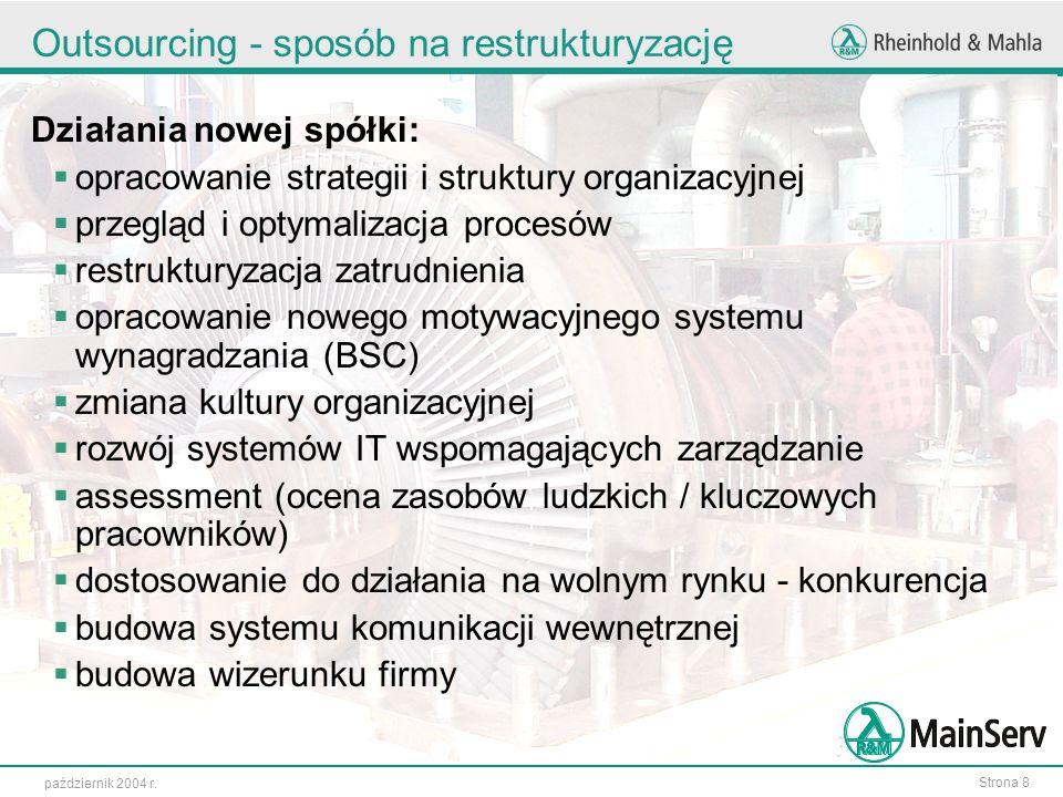 Outsourcing - sposób na restrukturyzację