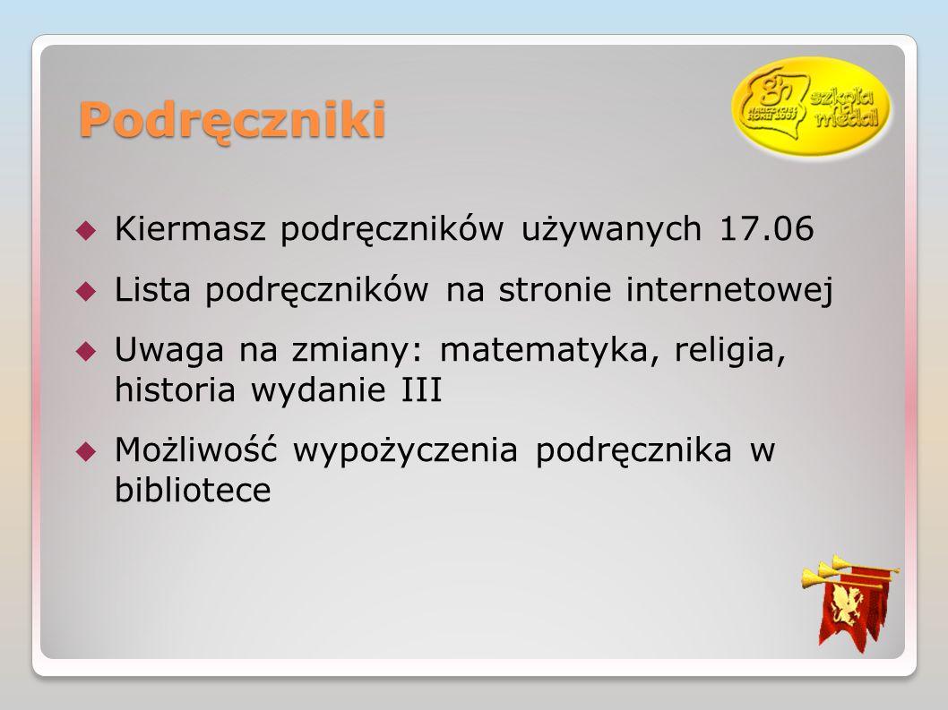 Podręczniki Kiermasz podręczników używanych 17.06