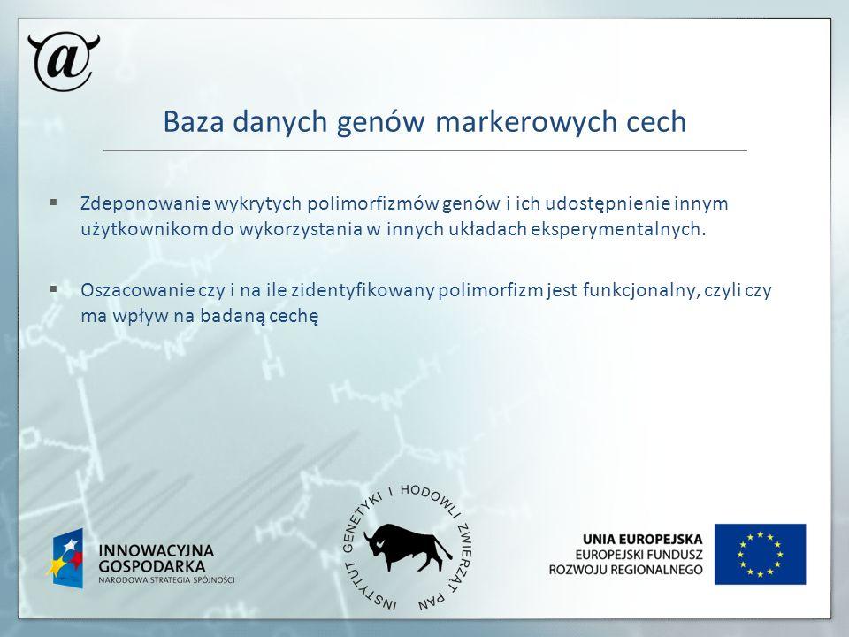 Baza danych genów markerowych cech