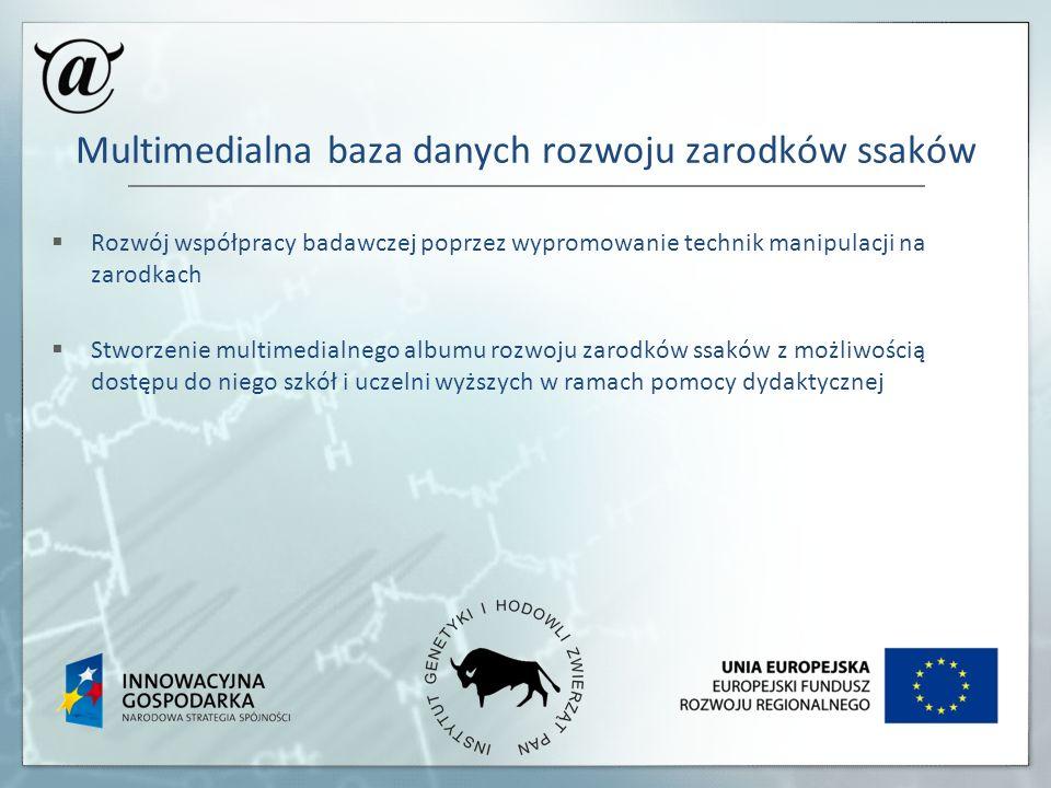 Multimedialna baza danych rozwoju zarodków ssaków
