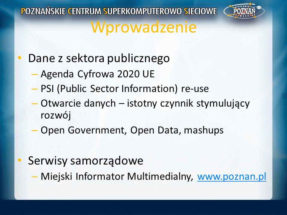 Wprowadzenie Dane z sektora publicznego Serwisy samorządowe