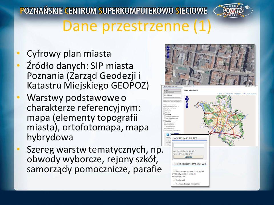 Dane przestrzenne (1) Cyfrowy plan miasta