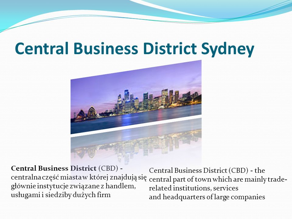 Central Business District Sydney