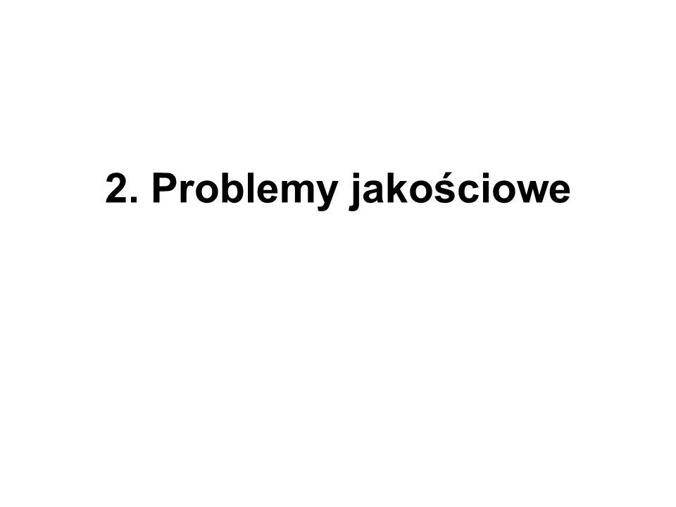 2. Problemy jakościowe