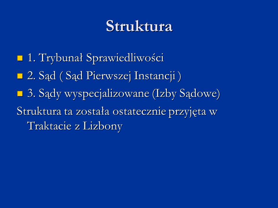 Struktura 1. Trybunał Sprawiedliwości