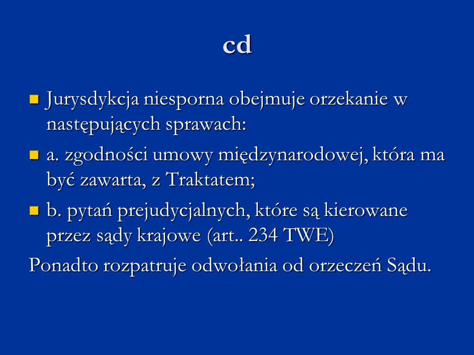 cd Jurysdykcja niesporna obejmuje orzekanie w następujących sprawach: