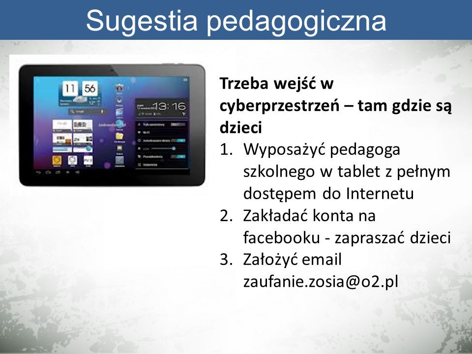 Sugestia pedagogiczna