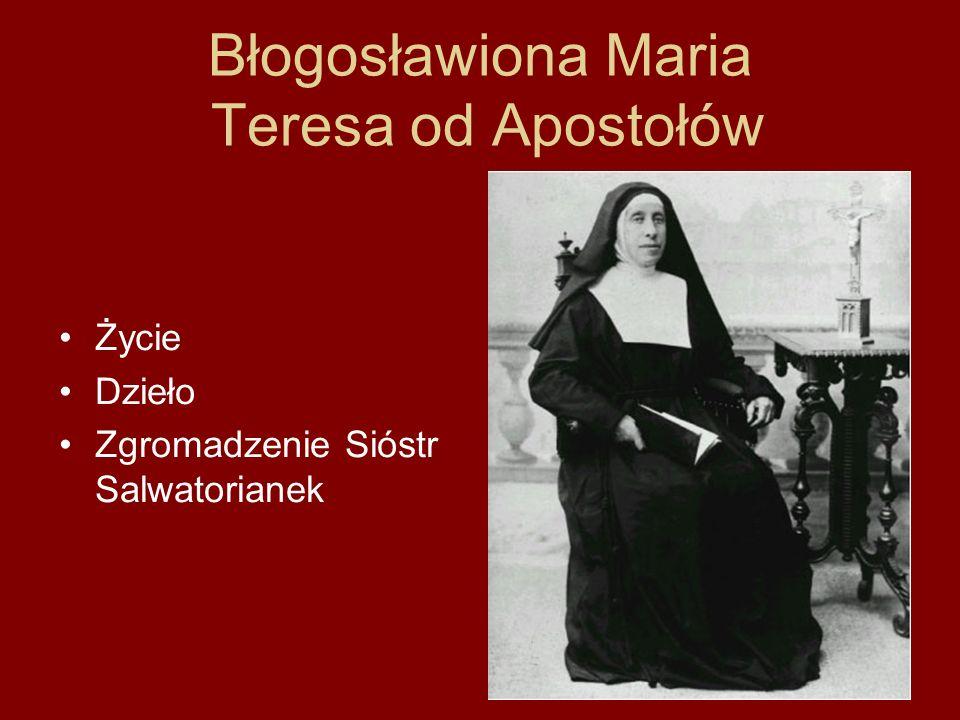 Błogosławiona Maria Teresa od Apostołów