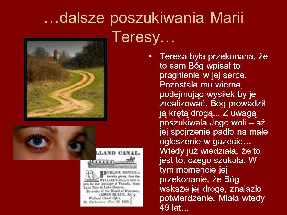 …dalsze poszukiwania Marii Teresy…