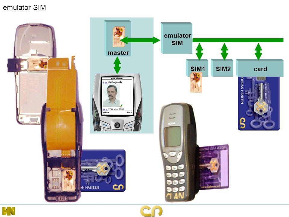 emulator SIM master emulator SIM SIM1 card SIM2