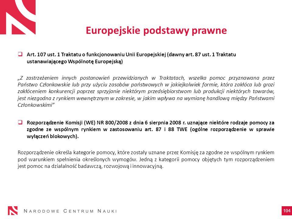 Europejskie podstawy prawne
