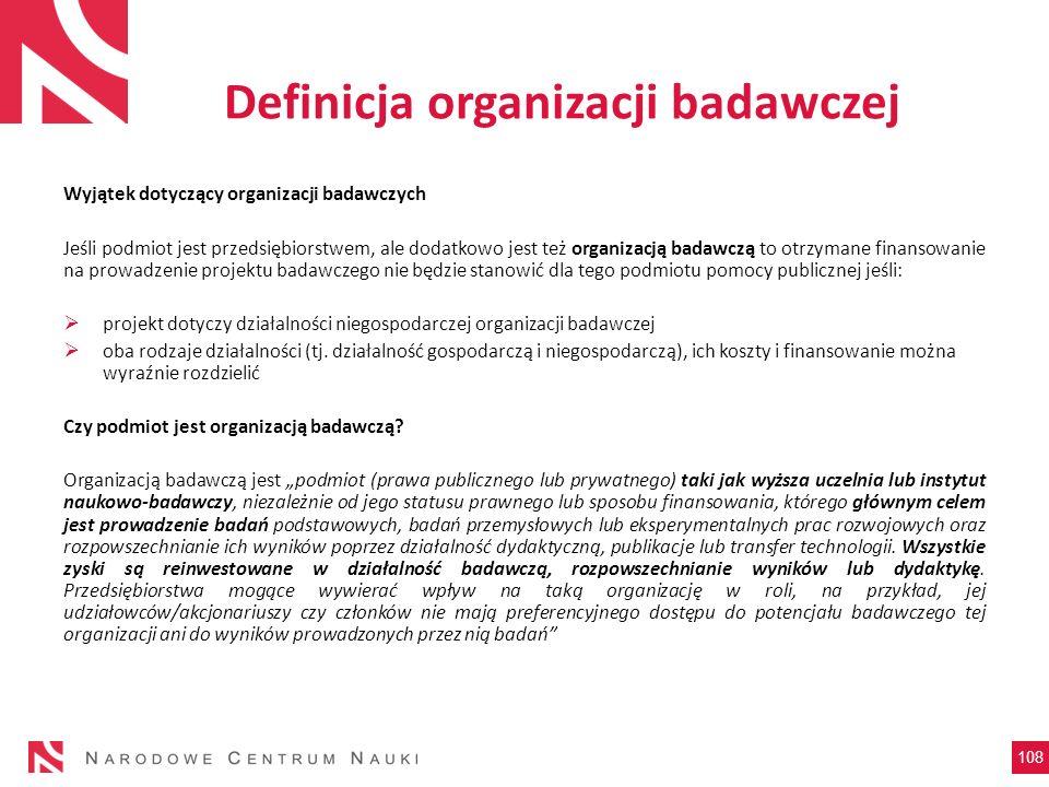 Definicja organizacji badawczej