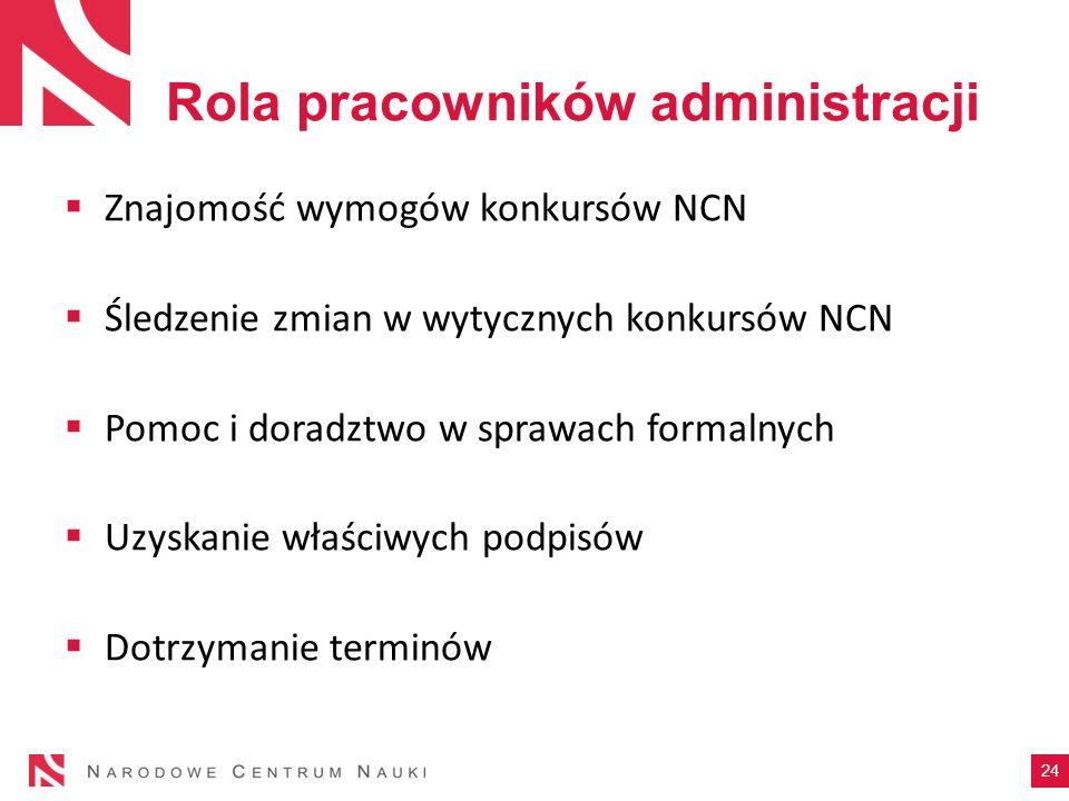 Rola pracowników administracji