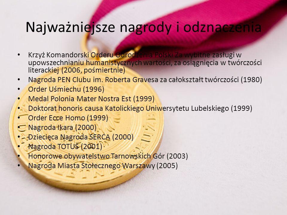 Najważniejsze nagrody i odznaczenia