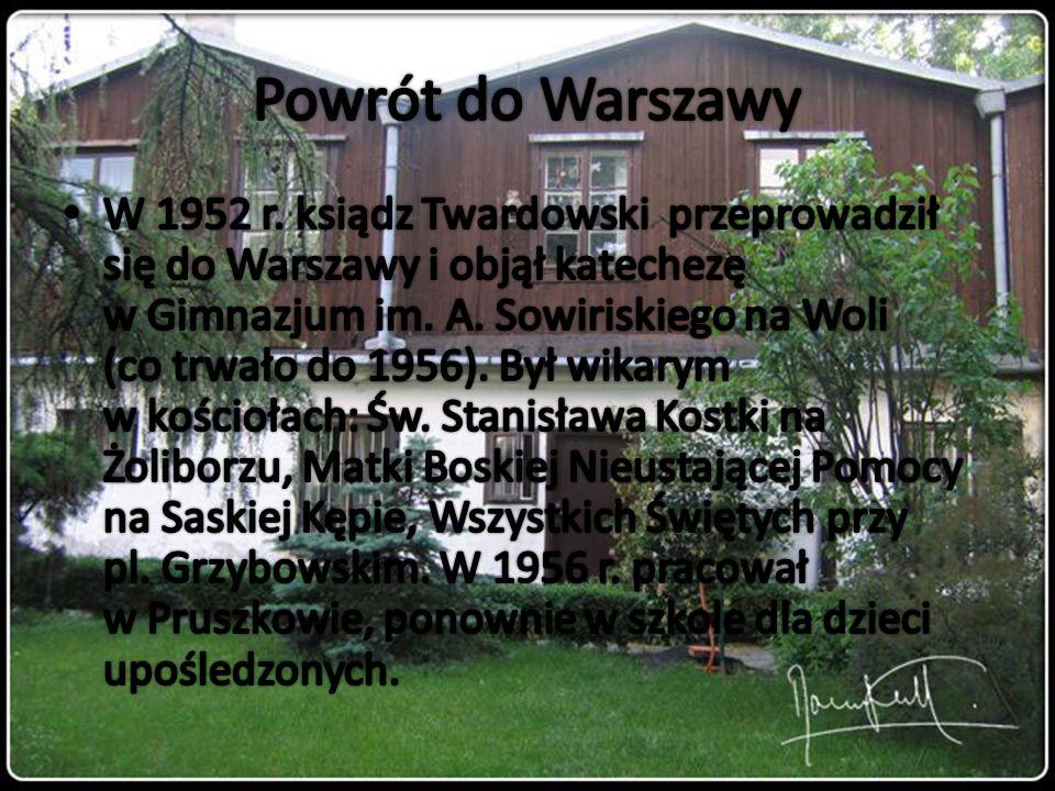 Powrót do Warszawy