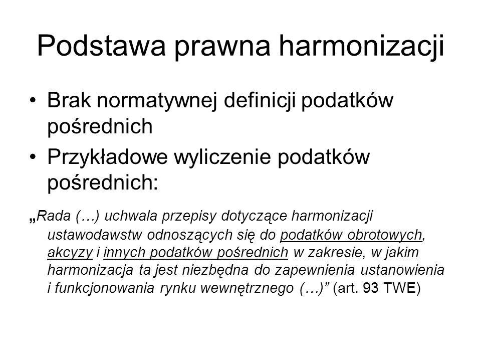 Podstawa prawna harmonizacji