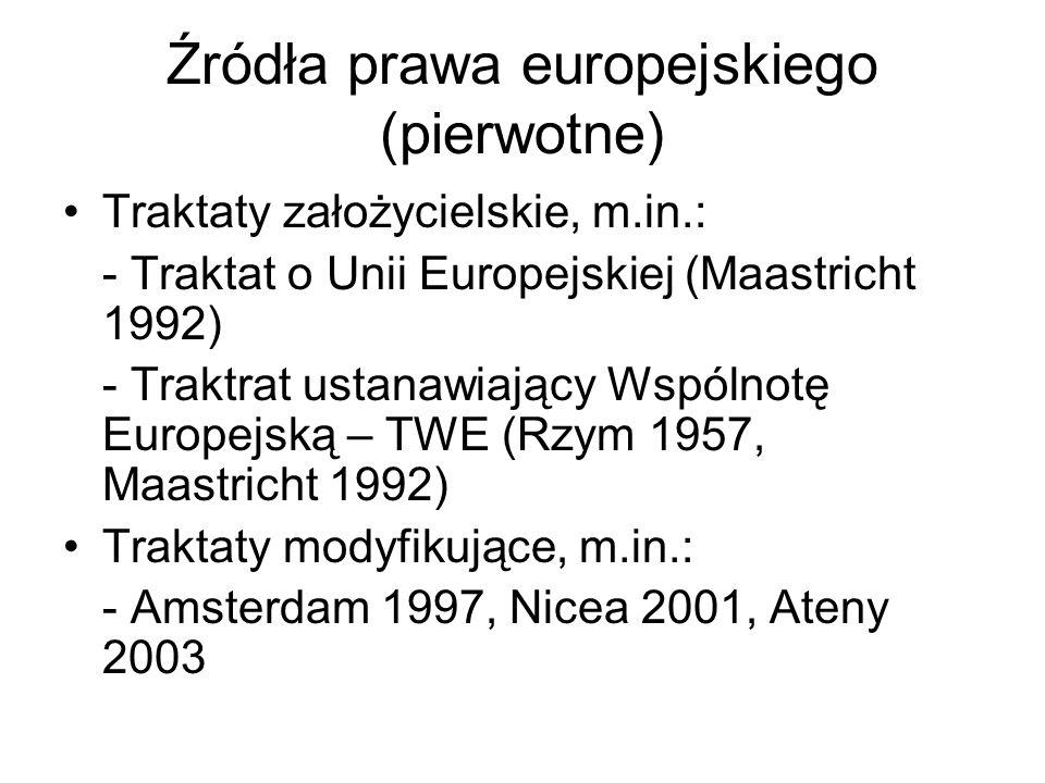 Źródła prawa europejskiego (pierwotne)