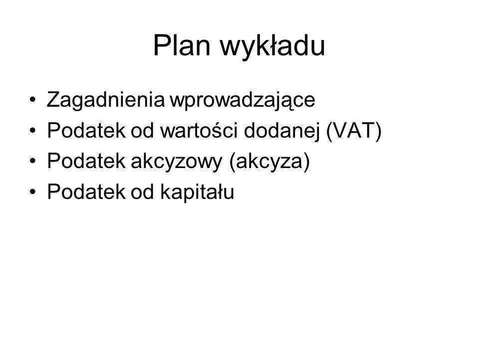 Plan wykładu Zagadnienia wprowadzające