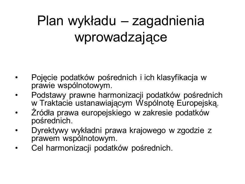 Plan wykładu – zagadnienia wprowadzające