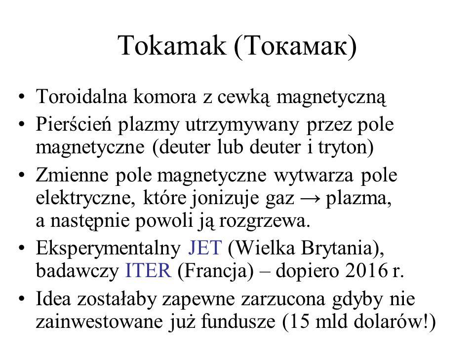 Tokamak (Токамак) Toroidalna komora z cewką magnetyczną
