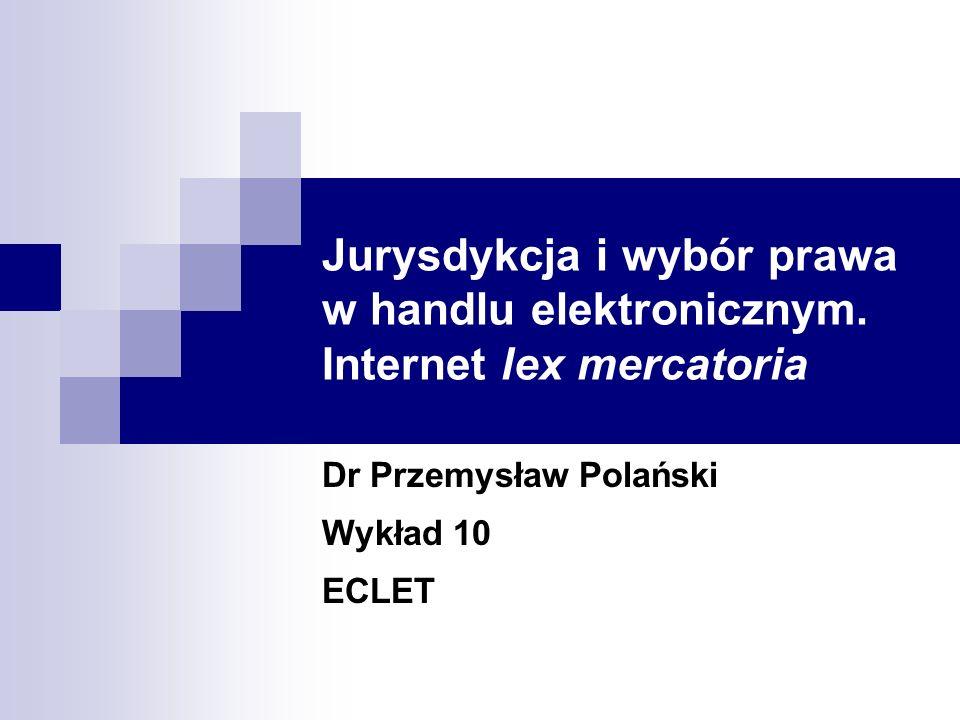 Dr Przemysław Polański Wykład 10 ECLET
