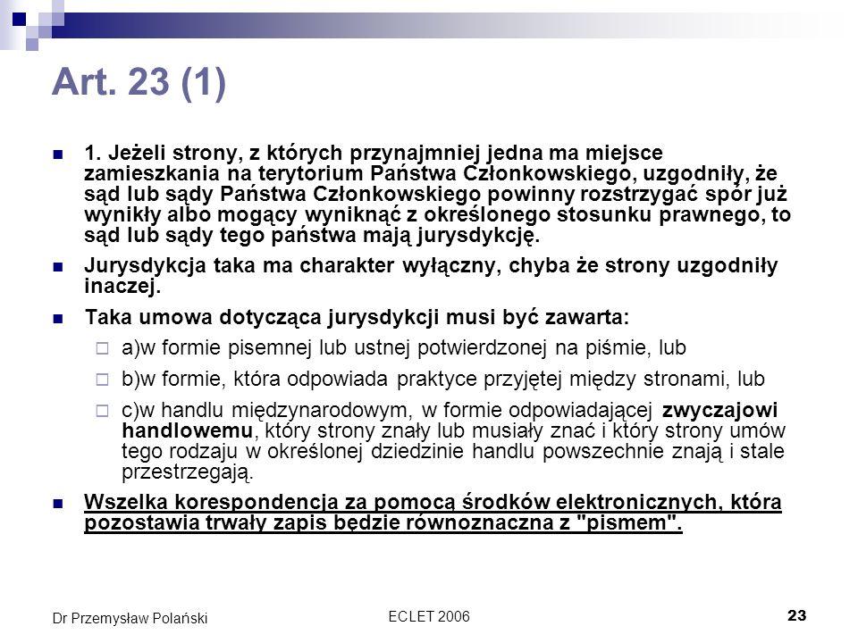 Art. 23 (1)