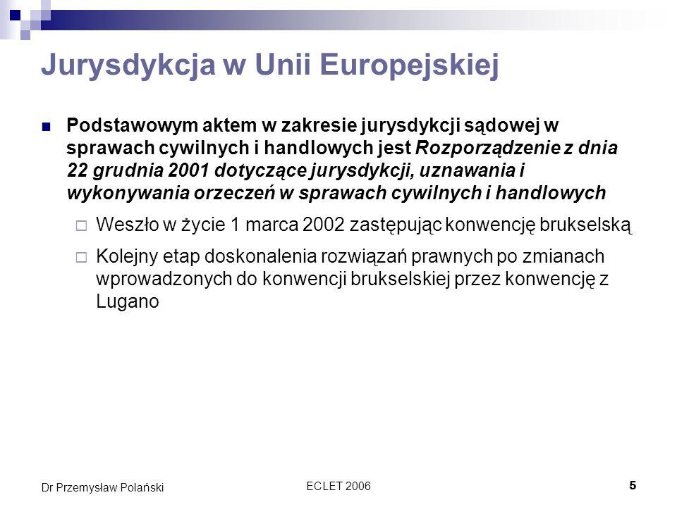 Jurysdykcja w Unii Europejskiej