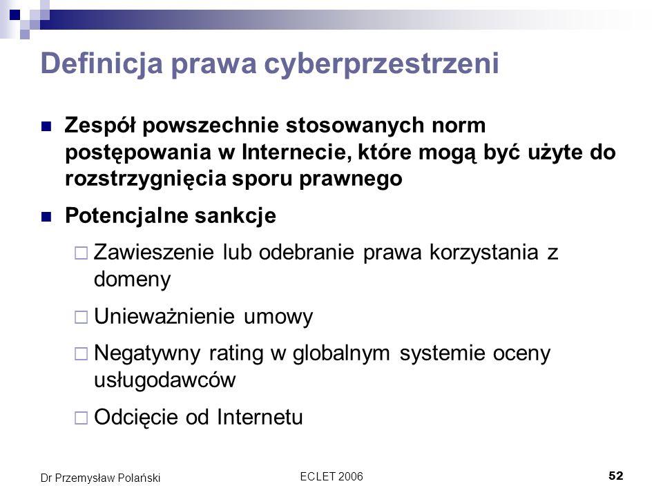 Definicja prawa cyberprzestrzeni