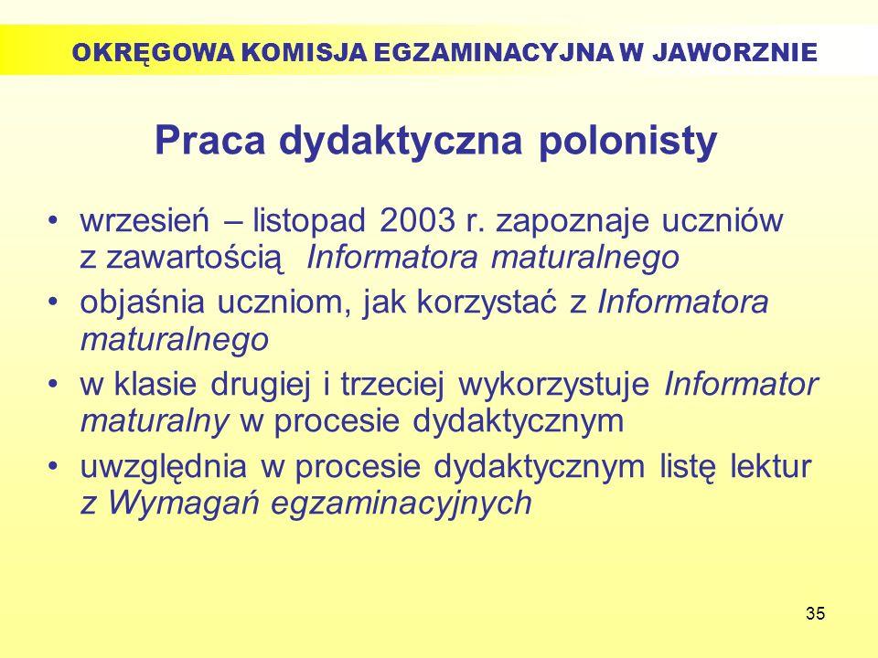 Praca dydaktyczna polonisty