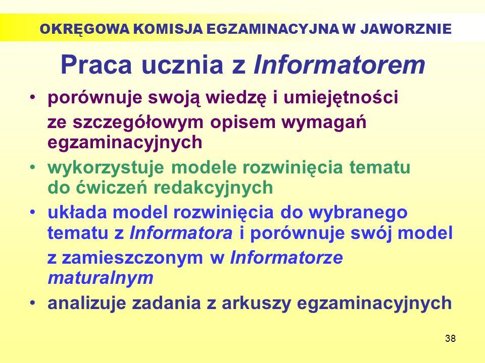 Praca ucznia z Informatorem